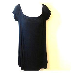 Black dress on or off shoulder
